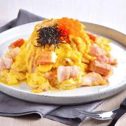 ข้าวไข่ข้นเบคอนปูอัด
