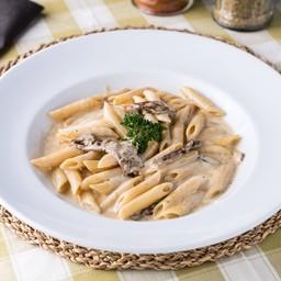 120. Penne Gorgonzola, Mascarpone, Truffle & Porcini