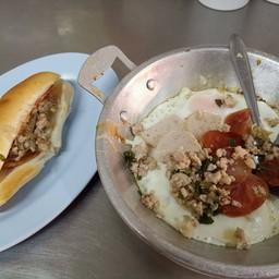 ชุดขนมปัง+ไข่กะทะ