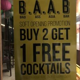 เมนู B.A.A.B. Bad Ass Asia Bar