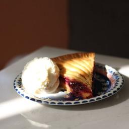 Sour Cherry Pie + Vanilla Ice-cream