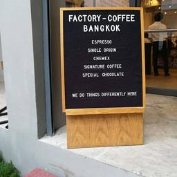 หน้าร้าน Factory Coffee - Bangkok