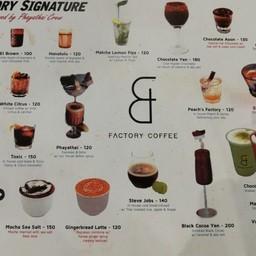 เมนู Factory Coffee - Bangkok