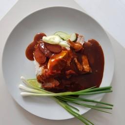 ข้าวมันไก่ ข้าวหมูแดง ตลาดตรอกหม้อ