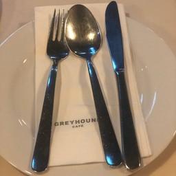 บรรยากาศ Greyhound café ลา วิลล่า พหลโยธิน