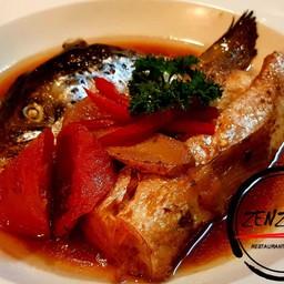 หัวปลาแชลมอนต้มมีท้องปลาด้วย