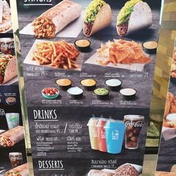 เมนู Taco Bell เดอะ เมอร์คิวรี่ วิลล์