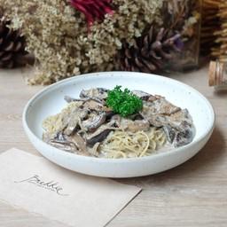 Capellini with Wild Mushrooms