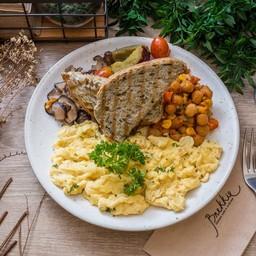 (scramble) Eggs Any Style Full Breakfast Plate