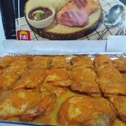 ข้าวไก่ย่าง(สะโพก ชิ้นใหญ่) พิริ พิริ สูตรโปรตุกีส  คู่กับ Tamarind sauce