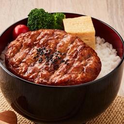 B6 แฮมเบิร์กไก่เบนโตะ (ร้าน - Thai Nippon Foods)