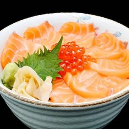B21 ข้าวหน้าปลาแซลมอนและไข่ปลา (ร้าน - Salmon&Ikura Don)