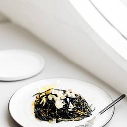 salted-egg black ink spaghetti