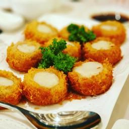 หอยเชลล์พันด้วยเผือก