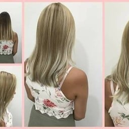 Organic colouring :) Great work to make her full blonde again, cr. stylist Auey