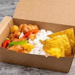 Sweet and Sour Chicken & Cheese Puffs