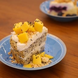 Coconut Sesame with Mango Topping