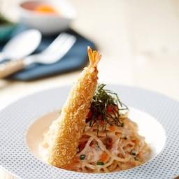 Spaghetti Cream Ebiko##1