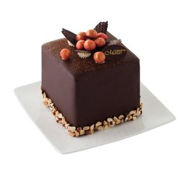 คิวบ์คาโรล่าเค้ก 4*4นิ้ว (1ปอนด์)