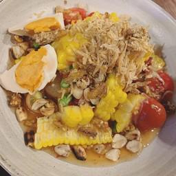 ตำข้าวโพดไข่เค็ม
