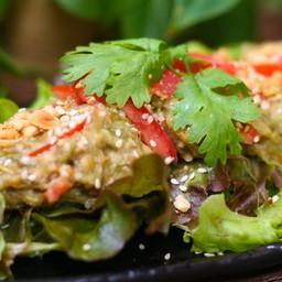 Eggplant Peanut Salad