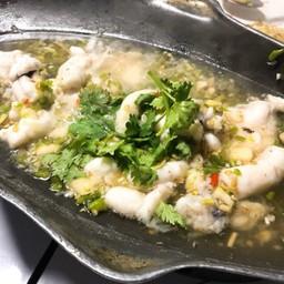 ไข่ปลาหมึกนึ่งมะนาว