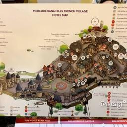 แผนที่ด้านบนBa Na Hills