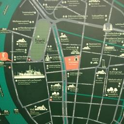 เดินจากศาลหลักเมืองไปศาลเจ้าพ่อเสือได้นะคะ เซิร์ท Google Mapได้