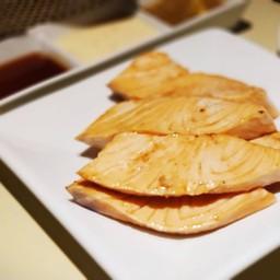 เนื้อปลาแซลมอนเบิร์น