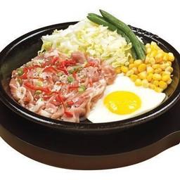 Pork Yakiniku with Egg