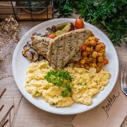 (sunny side up) Eggs Any Style Full Breakfast Plate