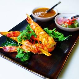 king prawn skewers satay style