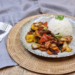 Chicken Cashew Nut with Rice