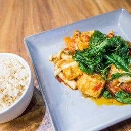 Tofu Gaprao with Rice