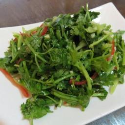ยำผักชีใส่พริกหยวก จานใหญ่
