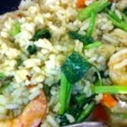 ข้าวผัดผักบุ้งหมูชิ้น