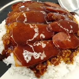 ข้าวหมูแดงกุนเชียง
