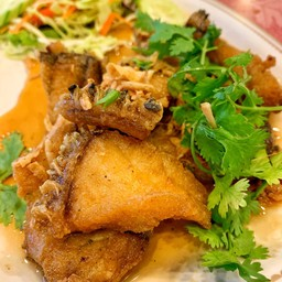 ปลากะพงทอดน้ำปลา##1