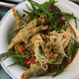 ขนมจีนน้ำยาป่นปลาช่อน