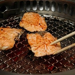 GRILLED SALMON ON RICE