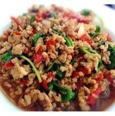 ผัดกะเพราหมู หรือไก่ Pab Kraprao Pork or Chicken