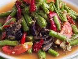 ตำถั่วฝักยาว  Som Tum  String Bean Salad