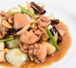 ไก่ผัดเม็ดมะม่วงหิมพานต์ Chicken stir fry with Cashew Nuts