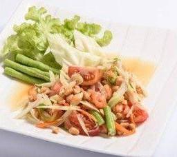 ส้มตำไทย  Som Tum Papaya Salad Thai Style