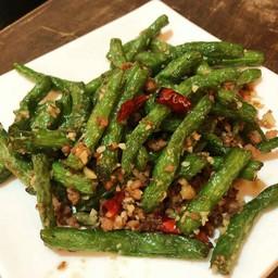 ผัดถั่วแขก 四季豆