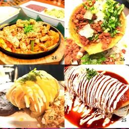 fajitas, soft tacos, chimichanga