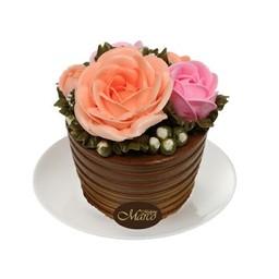 เค้กดอกไม้ ช็อกโกแลต 3 นิ้ว