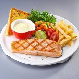 สเต็กปลาแซลมอนย่าง##2
