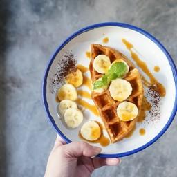 Caramel Banana Waffle