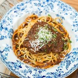 Granny's Slow cooked Chicken stew Spaghetti